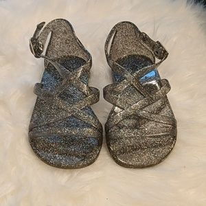 Old Navy Shoes - Old Navy glitter jellies